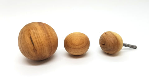 Cherrywood Balls  Wall Hooks (3 Pack)