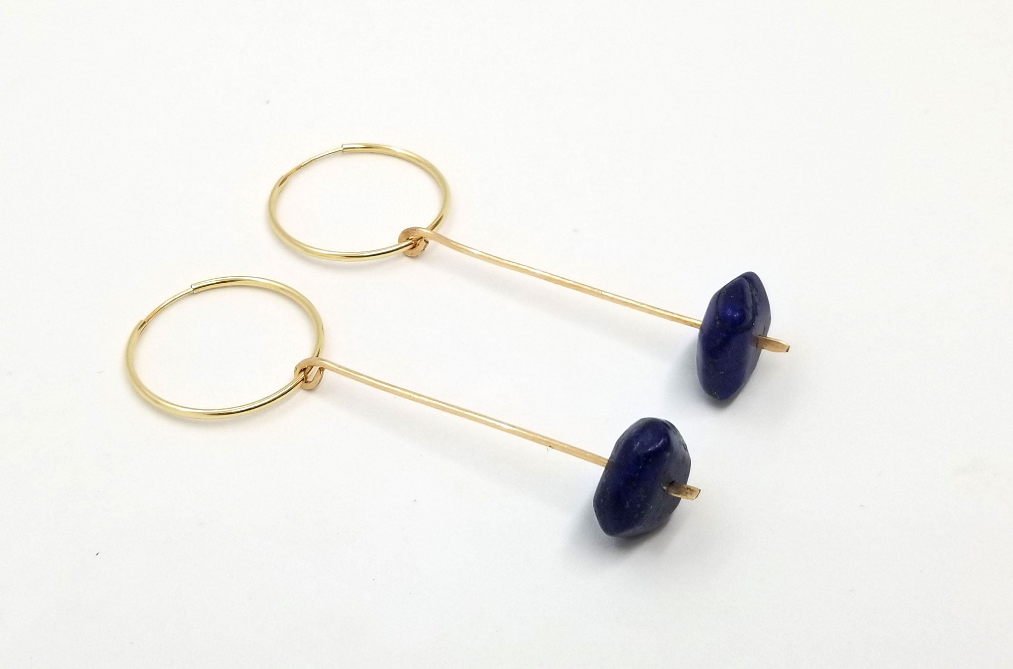 The Lapis Hoop - Removable Charm