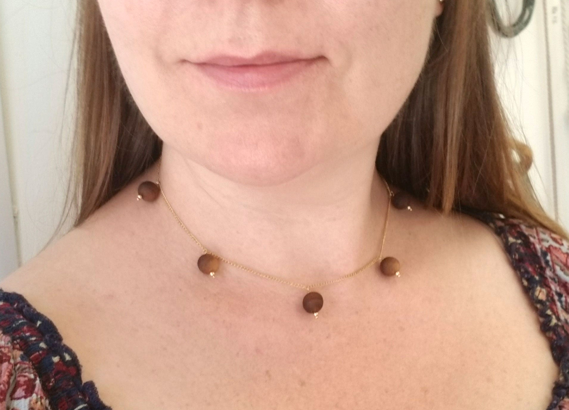 The Willa Walnut Gold Necklace