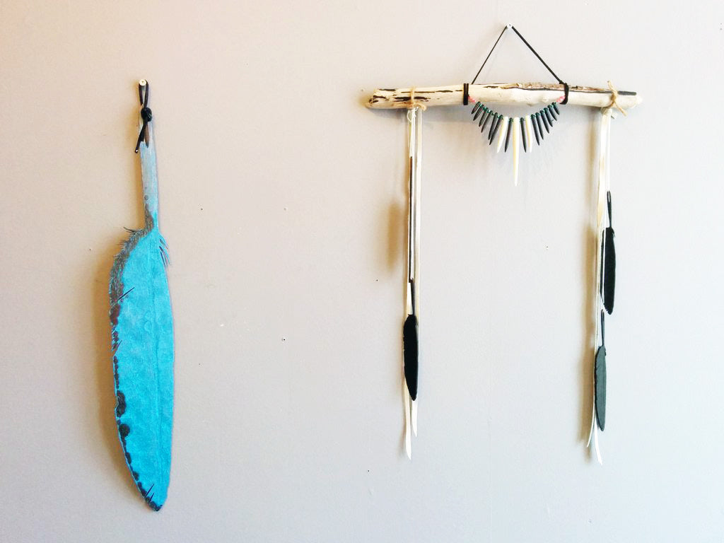 A- Wood Eagle Feather Wall Hanging- SOLD OUT