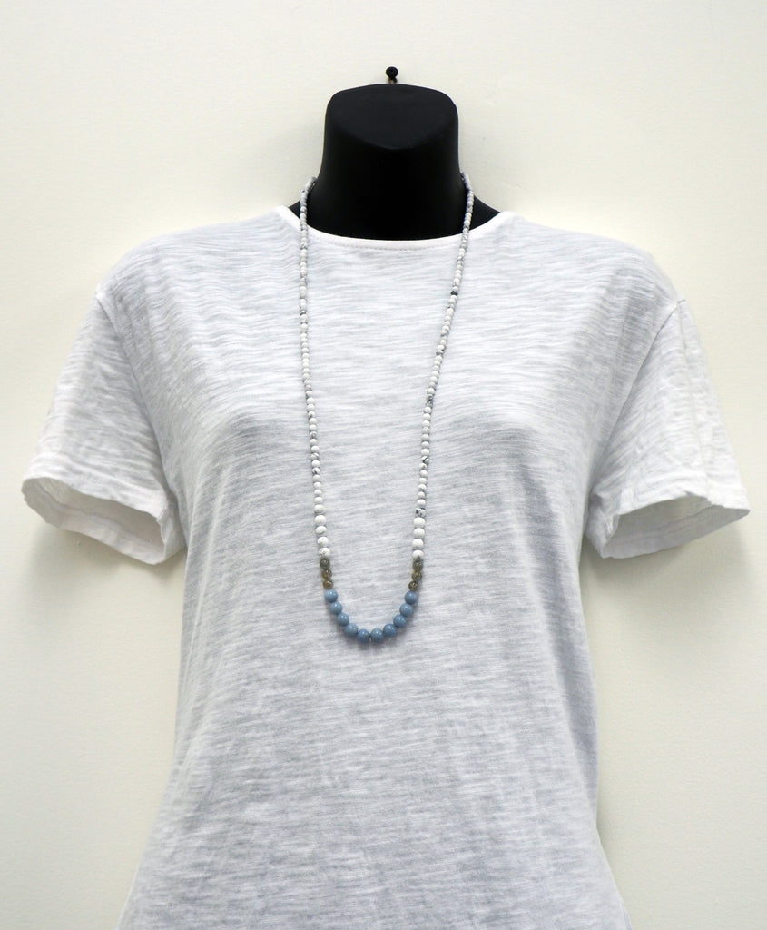 Angelite Labradorite Howlite Necklace