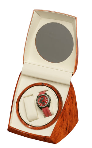 Diplomat Burl Wood Double Watch Winder - Watch Box Co. - 2