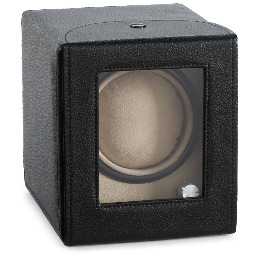 Diplomat Black Leather Single Watch Winder - Watch Box Co. - 1