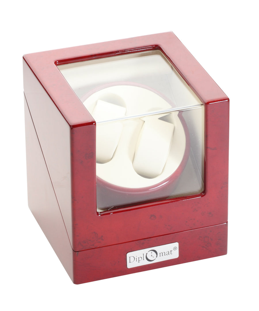 Diplomat Rosewood Double Watch Winder - Watch Box Co. - 1