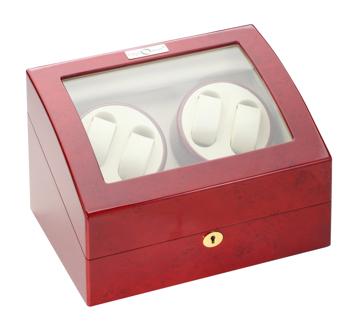 Diplomat Rosewood Four Watch Winder - Watch Box Co. - 2