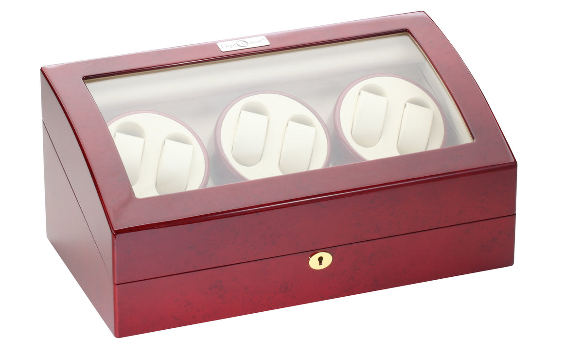 Diplomat Rosewood Six Watch Winder - Watch Box Co. - 2
