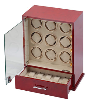 Diplomat Estate Collection Rosewood Nine Watch Winder - Watch Box Co. - 2