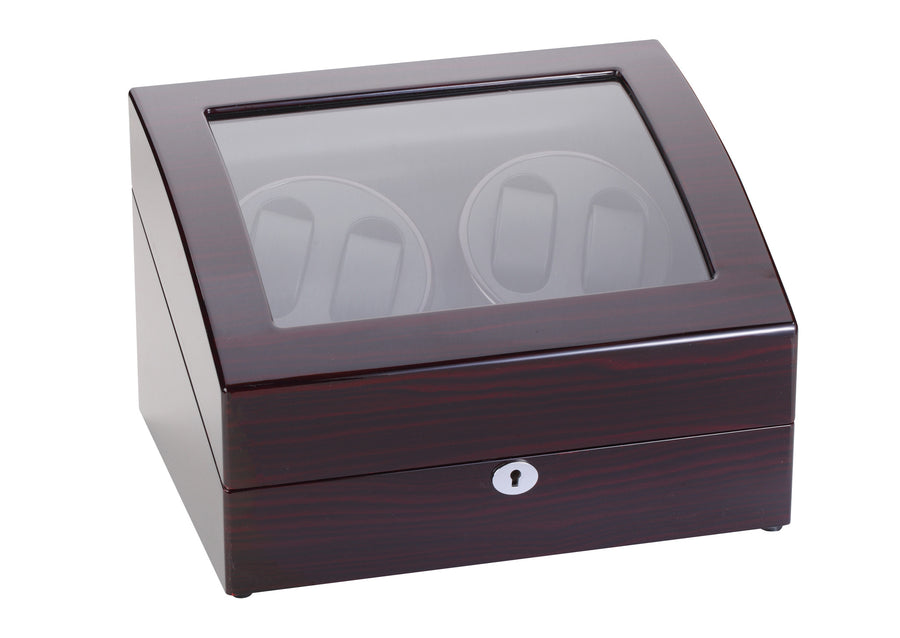 Diplomat Ebony Wood Four Watch Winder - Watch Box Co. - 1