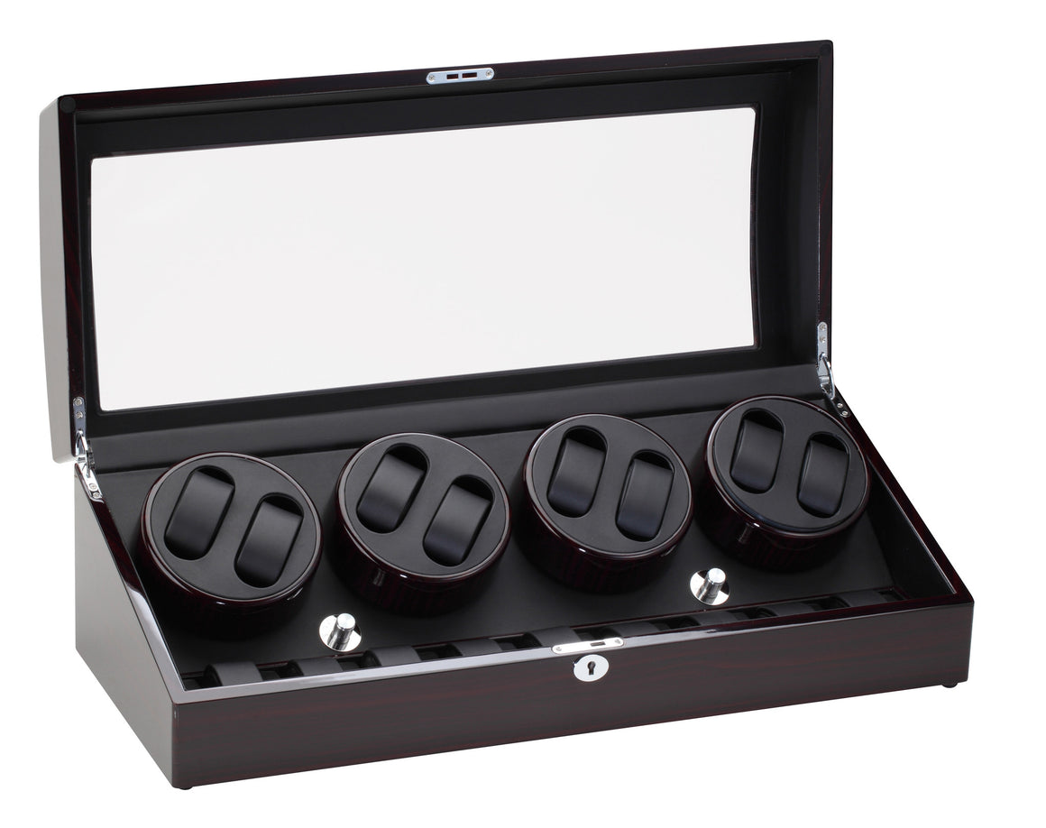 Diplomat Ebony Wood Eight Watch Winder - Watch Box Co. - 1