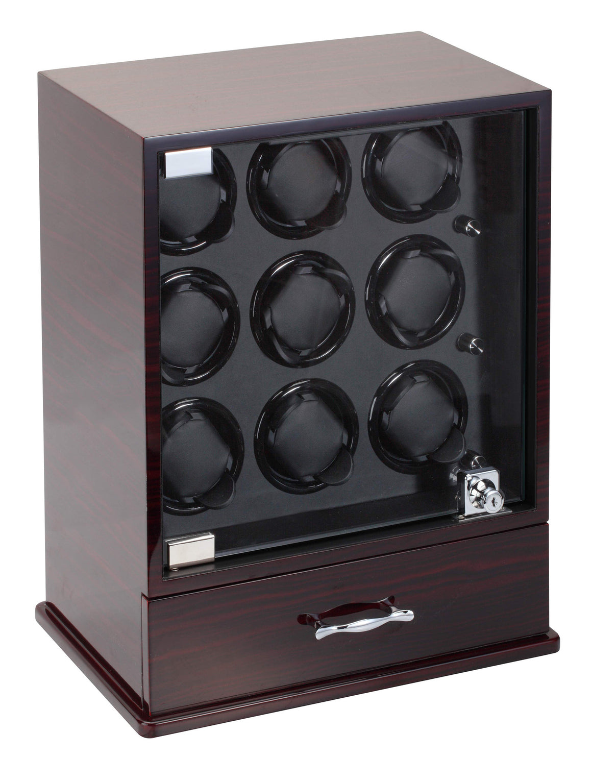 Diplomat Estate Collection Ebony Wood Nine Watch Winder - Watch Box Co. - 1