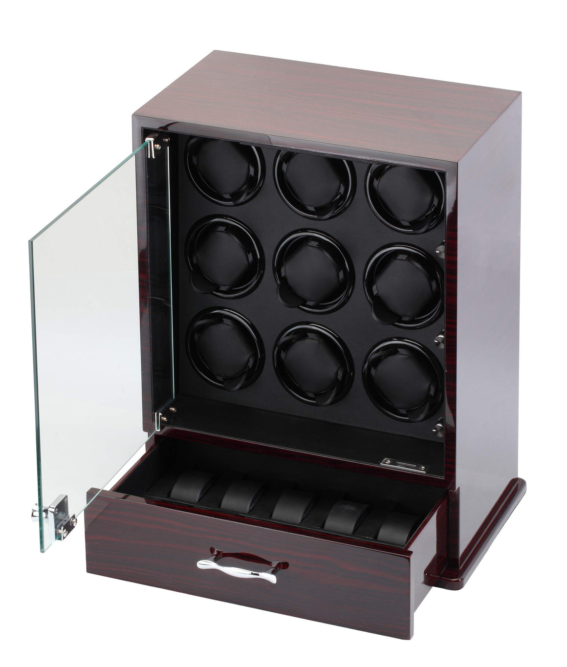 Diplomat Estate Collection Ebony Wood Nine Watch Winder - Watch Box Co. - 2