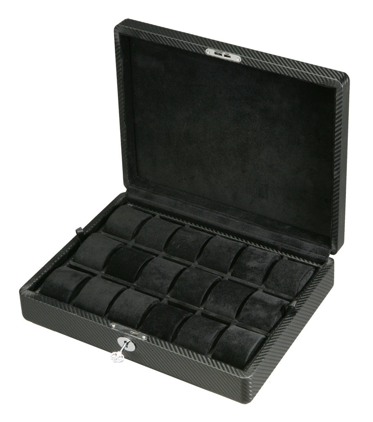 (18) Diplomat Carbon Fiber Watch Box - Watch Box Co. - 1
