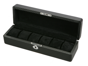 (6) Diplomat Carbon Fiber Watch Box - Watch Box Co. - 1