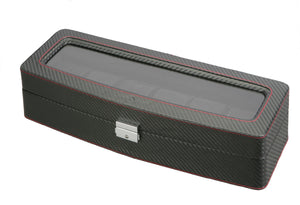 (6) Diplomat Carbon Fiber Watch Box with Clear Top - Watch Box Co. - 2