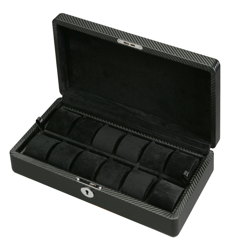 (12) Diplomat Carbon Fiber Watch Box - Watch Box Co. - 1