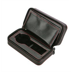 Diplomat Black Leather 2 Watch Travel Case - Watch Box Co. - 1