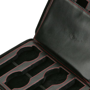 Diplomat Black Leather 8 Watch Travel Case - Watch Box Co. - 3