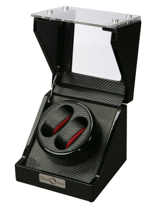 Diplomat Race Edition Double Watch Winder - Watch Box Co. - 1