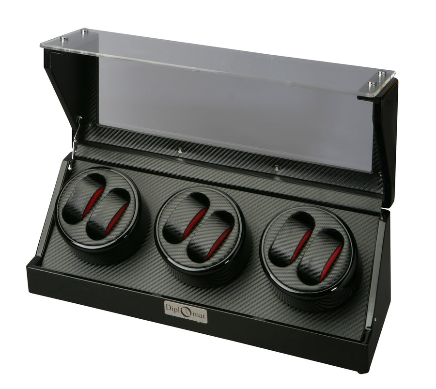 Diplomat Race Edition Six Watch Winder - Watch Box Co. - 1
