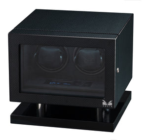 Volta Carbon Fiber Double Watch Winder - Watch Box Co. - 2