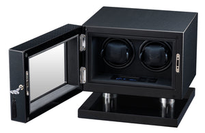 Volta Carbon Fiber Double Watch Winder - Watch Box Co. - 1