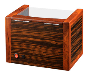 Volta Teak Wood Double Watch Winder - Watch Box Co. - 3