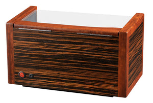Volta Teak Wood 3 Watch Winder - Watch Box Co. - 3