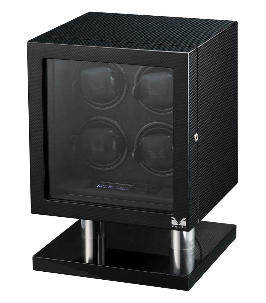 Volta Carbon Fiber Four Watch Winder - Watch Box Co. - 1