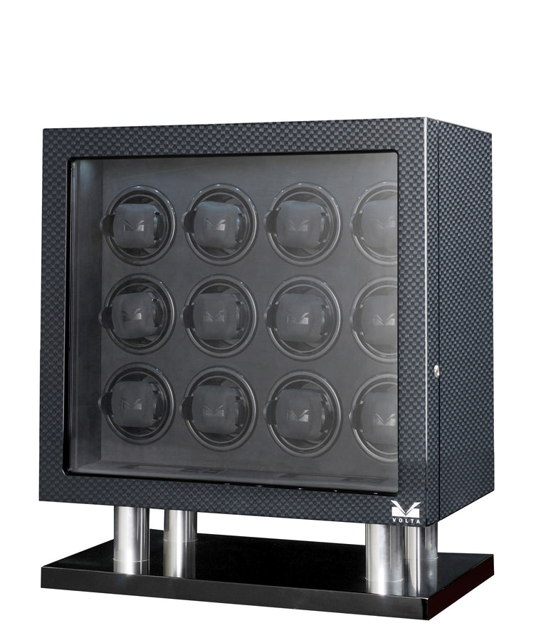 Volta Carbon Fiber 12 Watch Winder - Watch Box Co. - 1