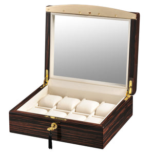 Volta Ebony Wood Watch Case w/ Cream Interior - Watch Box Co. - 1