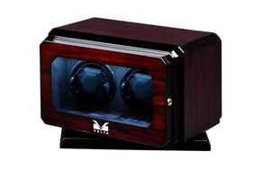 Volta Dark Rosewood Double Watch Winder with Rotation Base - Watch Box Co. - 1