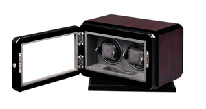 Volta Dark Rosewood Double Watch Winder with Rotation Base - Watch Box Co. - 2