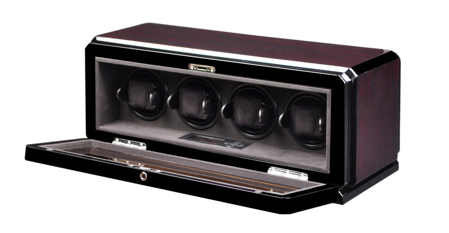 Volta Dark Rosewood Four Watch Winder - Watch Box Co. - 1