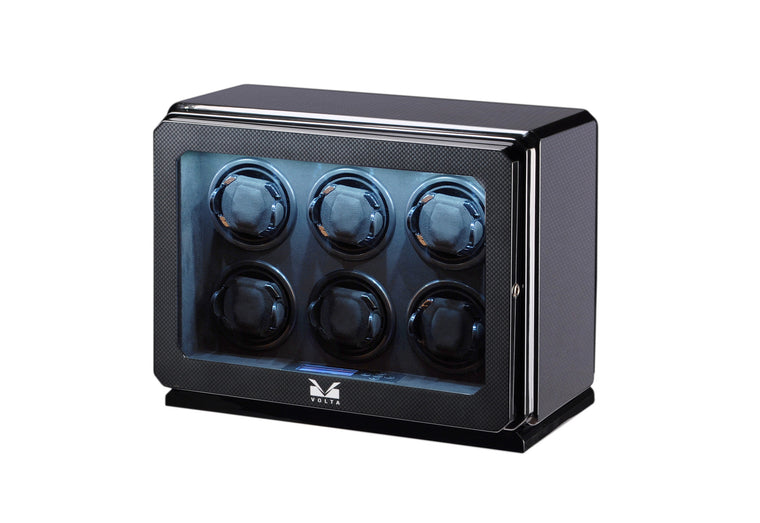 Volta Carbon Fiber Six Watch Winder - Watch Box Co. - 1
