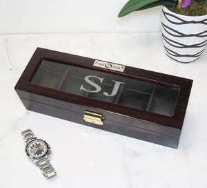(5) Glossy Dark Ebony wood Watch Box - Watch Box Co. - 3