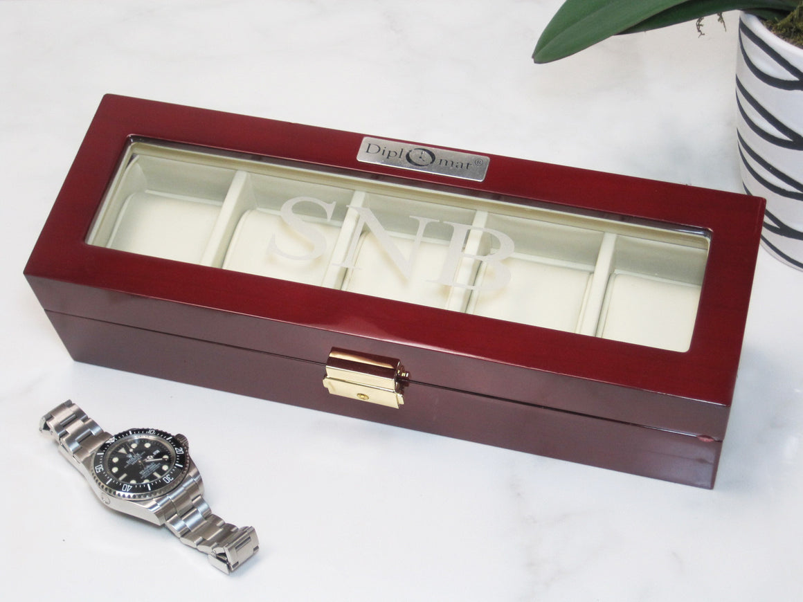 (5) Glossy Rosewood Watch Box - Watch Box Co. - 3