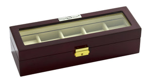 (5) Glossy Rosewood Watch Box - Watch Box Co. - 2