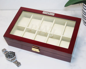 (10) Diplomat RoseWood Watch Box - Watch Box Co. - 3