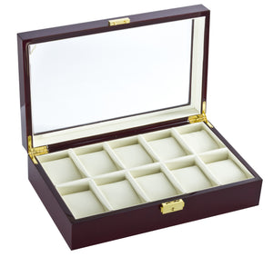 (10) Diplomat RoseWood Watch Box - Watch Box Co. - 1