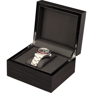 Single Black Mahogany Wood Watch Box - Watch Box Co. - 1