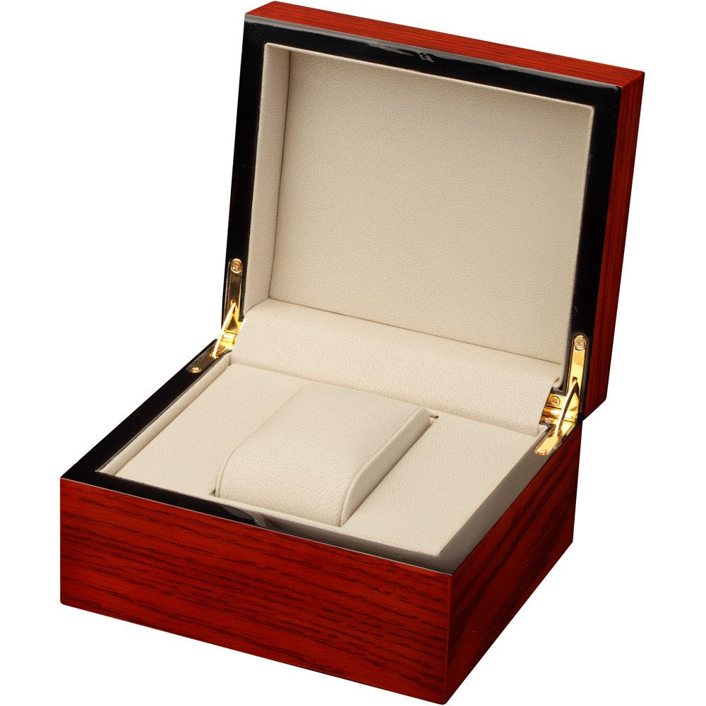 Single Mahogany Wood Watch Box - Watch Box Co. - 2