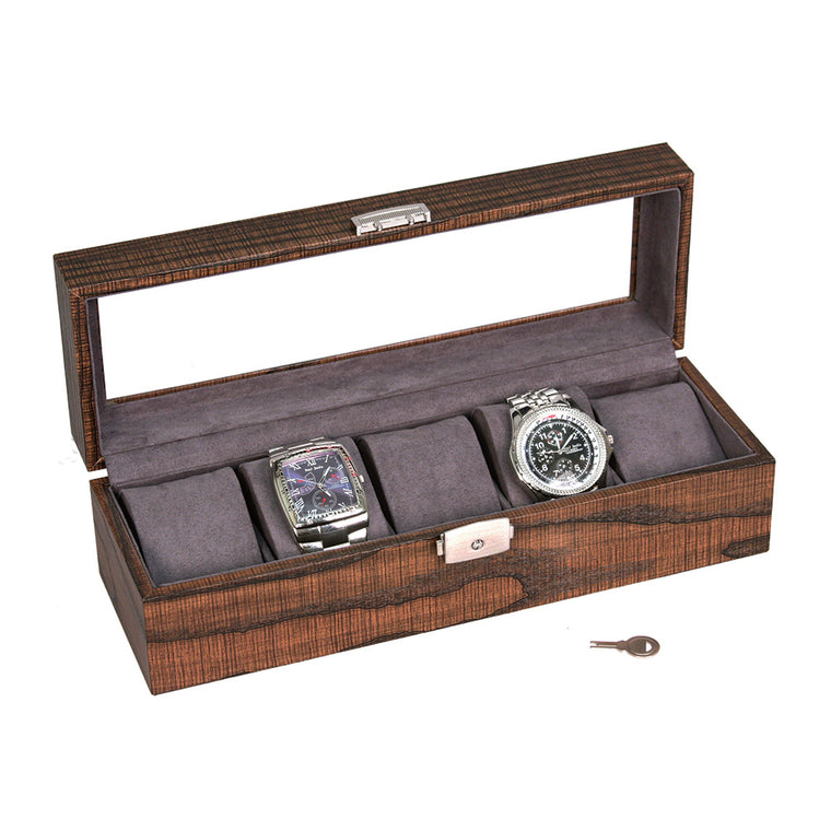 5 Wood Grain Watch Box
