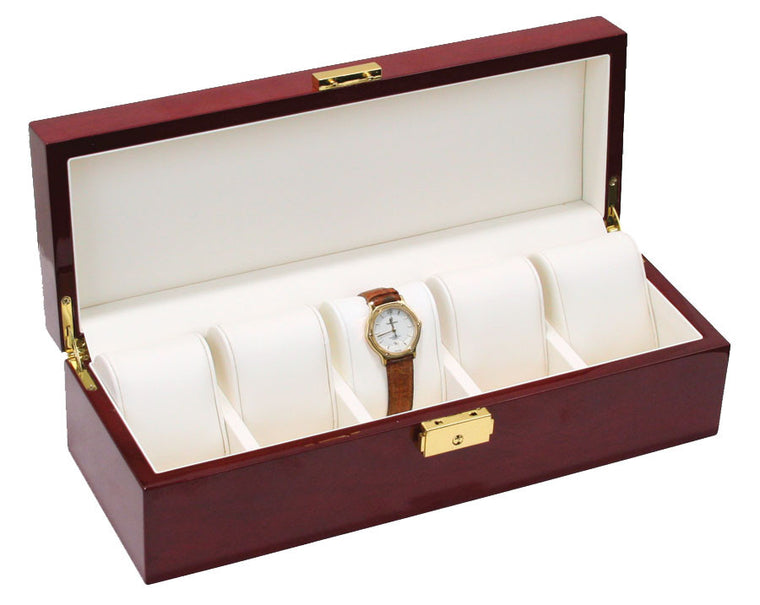 (5) Glossy Solid Top Rosewood watch box - Watch Box Co. - 1