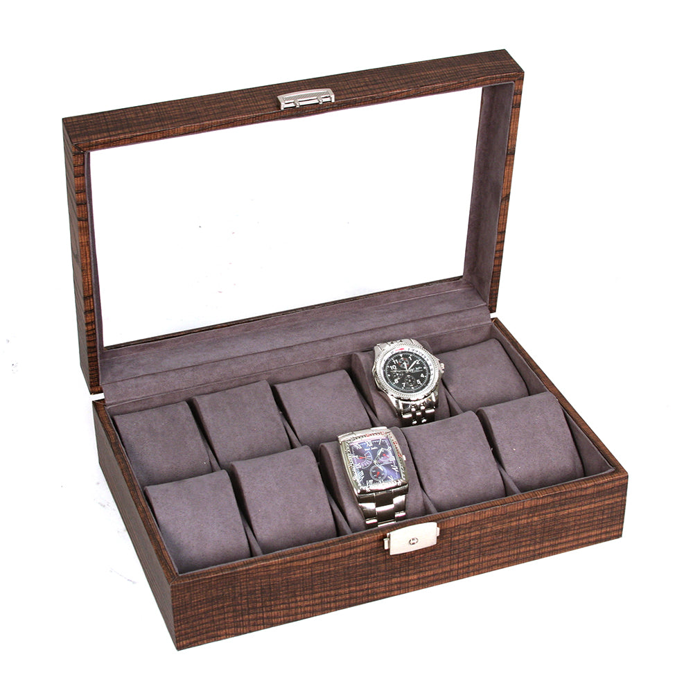 Boxes, Cases & Watch Winders Lovely For 6 Watches Housing Box Showcase Display Jewel Case Case Black