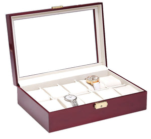10 Piece Rosewood Watch Box - Watch Box Co. - 1
