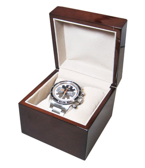 Single Genuine Mahogany Wood Watch Box - Watch Box Co. - 1