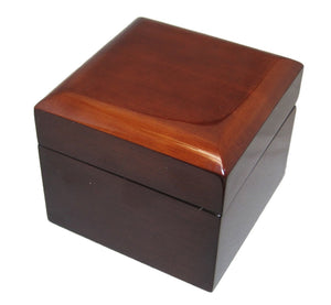 Single Genuine Mahogany Wood Watch Box - Watch Box Co. - 2