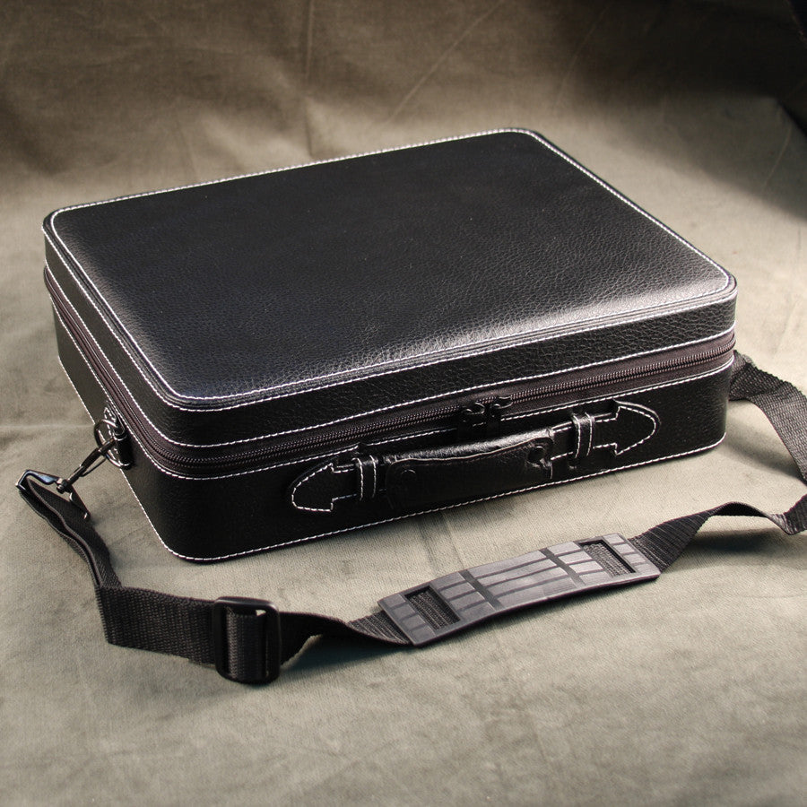 (26) Black Leather Watch Travel Case - Watch Box Co. - 2