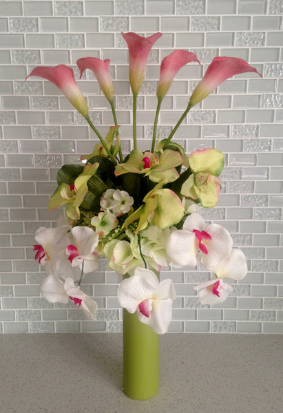Phalaenopis Orchid and Calla Lily Arrangement