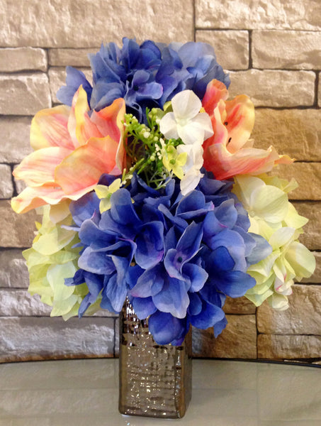 Amargllis and Hydrangea Arrangement